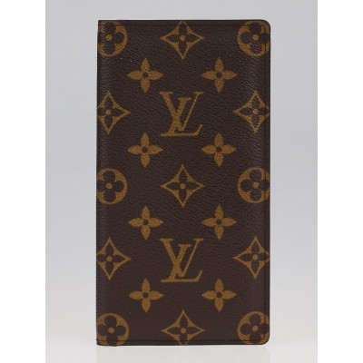 Louis Vuitton Monogram Canvas European Checkbook and Card Holder Wallet