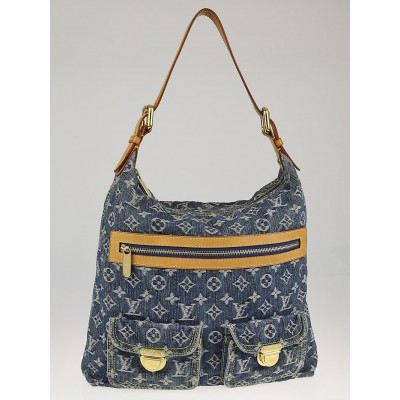 Louis Vuitton Blue Denim Monogram Denim Baggy GM Bag