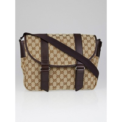 Gucci Beige/Ebony GG Canvas Medium Messenger Bag