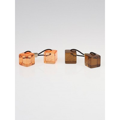 Louis Vuitton Brown/Orange Resin Hair Cubes