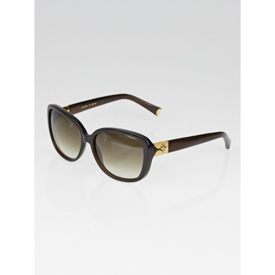 Louis Vuitton Brown Speckling Acetate Frame Heather Strass Sunglasses-Z0457W