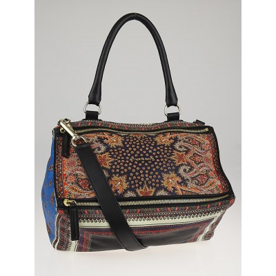 Givenchy Brown Multiprint Leather Medium Pandora Bag