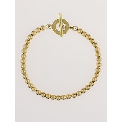 Tiffany & Co. 18k Gold Tiffany Beads Toggle Bracelet