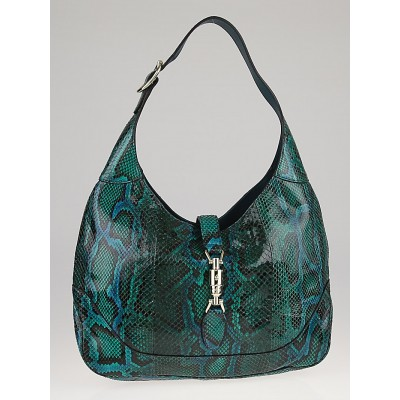 Gucci Malachite Python New Jackie Medium Shoulder Bag