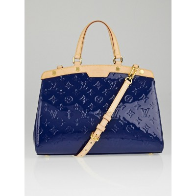 Louis Vuitton Grand Bleu Monogram Vernis Brea MM Bag