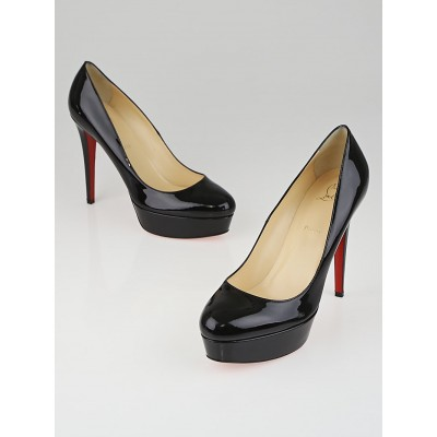Christian Louboutin Black Patent Leather Bianca 140 Pumps Size 11.5/42