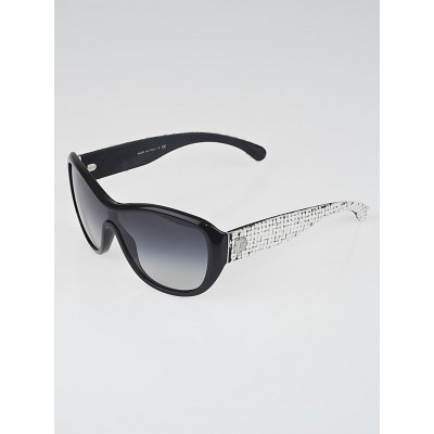 Chanel Black/White Frame Tweed Sunglasses-5242