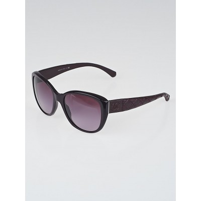 Chanel Purple Quilted Leather CC Sunglasses-5199