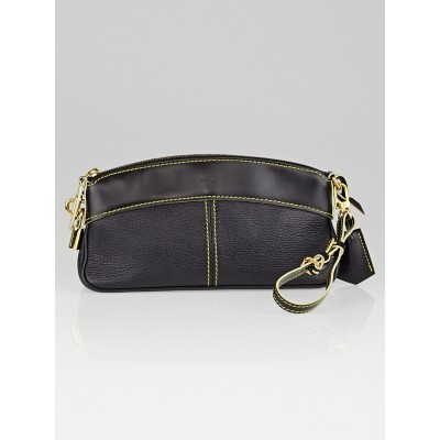 Louis Vuitton Black Suhali Leather Clutch Bag