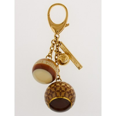 Louis Vuitton Brown Resin Monogram Mini Lin Key Holder and Bag Charm