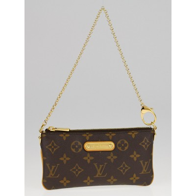 Louis Vuitton Monogram Canvas Milla MM Clutch Bag