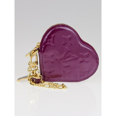 Louis Vuitton Violette Monogram Vernis Heart Coin Purse
