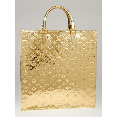 Louis Vuitton Limited Edition Gold Monogram Miroir Sac Plat Bag
