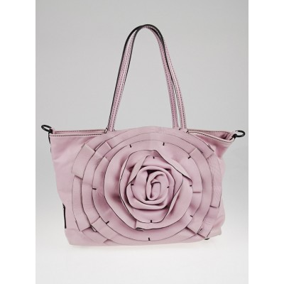 Valentino Pink Nappa Leather Small Petale Tote Bag