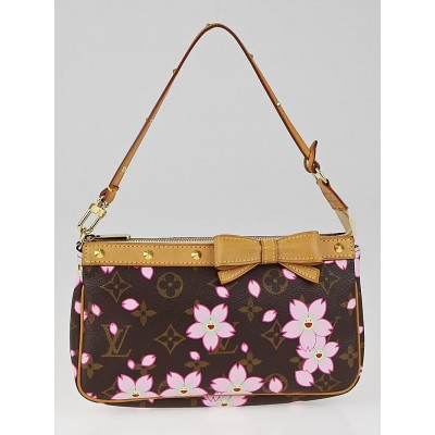Louis Vuitton Limited Edition Cherry Blossom Monogram Canvas Accessories Pochette Bag