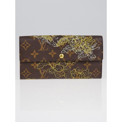 Louis Vuitton Limited Edition Monogram Canvas Gold Dentelle Sarah Wallet