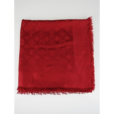 Louis Vuitton Pomme D'Amour Monogram Silk/Wool Shawl Scarf