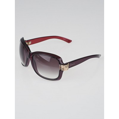Gucci Purple Frame Crystal GG Sunglasses-2985