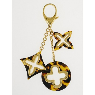 Louis Vuitton Ecaille Resin Insolence Key Holder and Bag Charm
