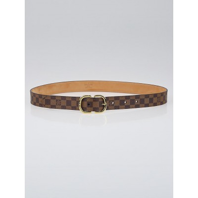 Louis Vuitton Damier Canvas 25mm Mini Belt Size 75/30