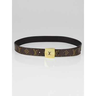 Louis Vuitton Monogram Canvas LV Cut Reversible Belt Size 85/34