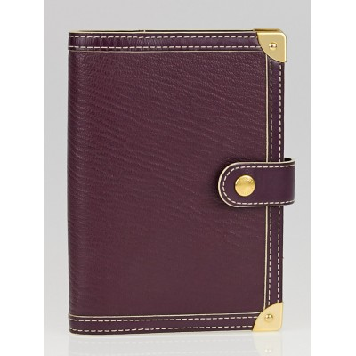 Louis Vuitton Plum Suhali Leather Small Agenda/Notebook Cover