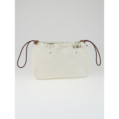 Hermes Natural Canvas Medium Fourbi Cosmetic Case and Bag Insert