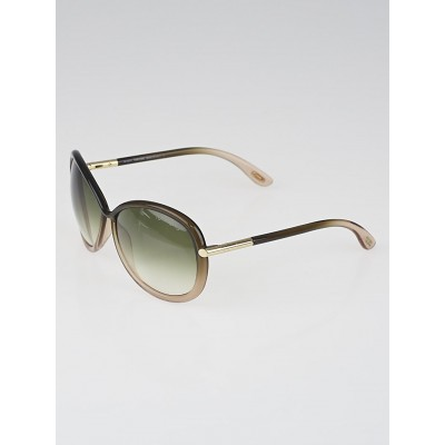 Tom Ford Brown Gradient Tint Lens Clothilde Sunglasses-TF 162