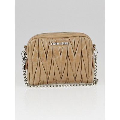 Miu Miu Cammeo Matelasse Lux Leather Mini Pochette Bag RT0534
