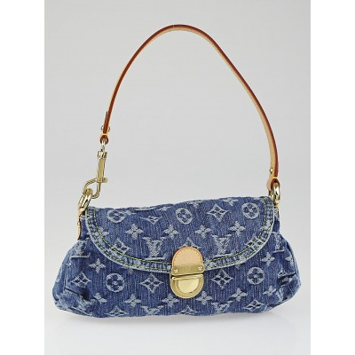 Louis Vuitton Blue Denim Monogram Denim Mini Pleaty Bag