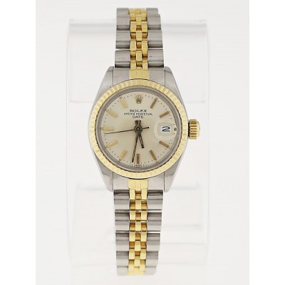 Rolex 26mm 18k Gold and Stainless Steel Ladies Date Watch