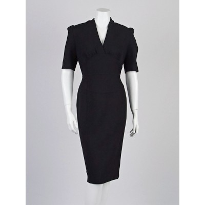Burberry Black Polyester Blend Alodie Dress Size 12