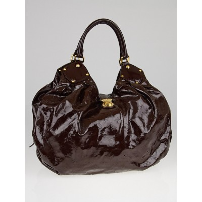 Louis Vuitton Limited Edition Marron Patent Leather Surya XL Bag