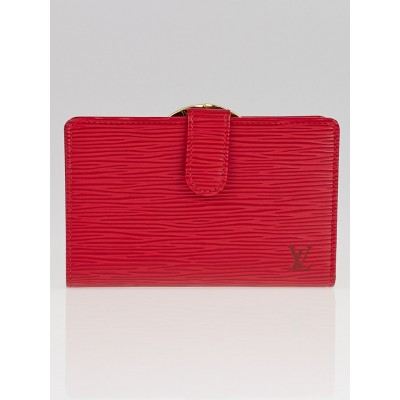 Louis Vuitton Red Epi Leather Porte Feuille Vienoise French Purse Wallet