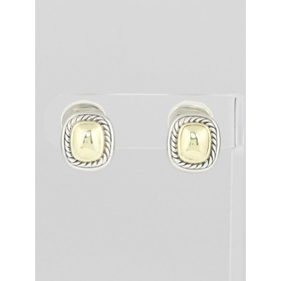 David Yurman Sterling Silver and 14k Gold Albion Earrings