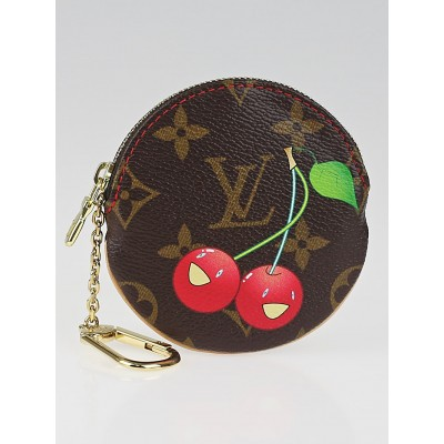Louis Vuitton Limited Edition Monogram Cerises Round Coin Purse