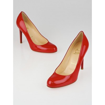 Christian Louboutin Rouge Lipstick Simple 100 Pumps Size 8/38.5