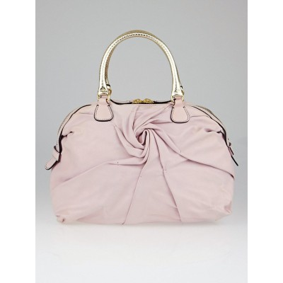 Valentino Pink Leather Blossy Rose Bag