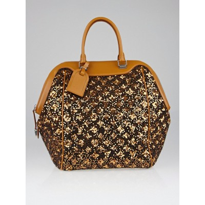 Louis Vuitton Limited Edition Gold Monogram Sunshine Express North-South Bag