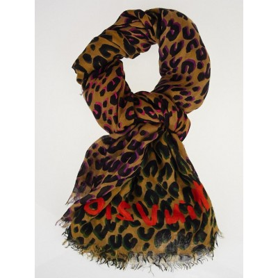 Louis Vuitton Chili Red Cashmere/Silk Stephen Sprouse Leo Pop Stole Scarf