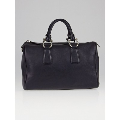 Salvatore Ferragamo Black Calfskin Leather Isabel Boston Bag