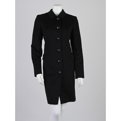 Burberry London Black Wool/Cashmere Long Coat Size 8