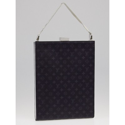 Louis Vuitton Limited Edition Black Monogram Satin Ange GM Evening Bag