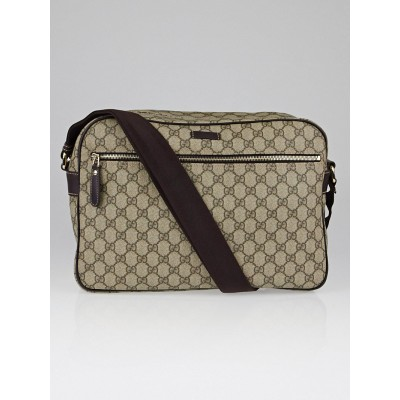 Gucci Beige/Ebony GG Coated Canvas Messenger Bag