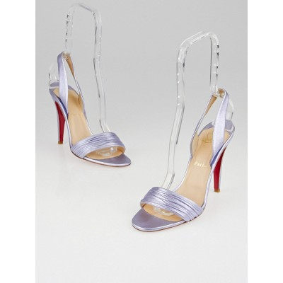 Christian Louboutin Glicine Laminato Leather Marie Pli 100 Sandals Size 8/38.5
