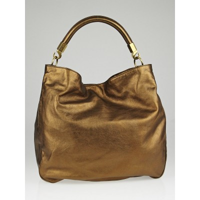 Yves Saint Laurent Bronze Calfskin Leather Roady Bag