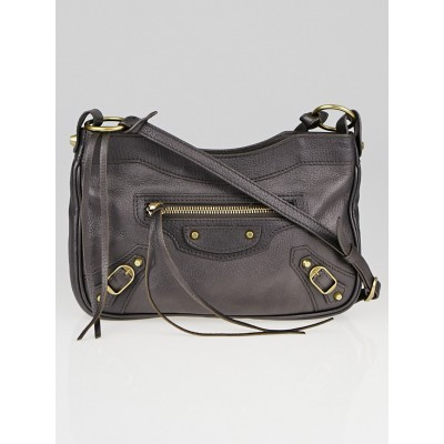 Balenciaga Bronze Chevre Leather Pearly Hip Bag