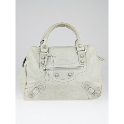 Balenicaga Argent Lambskin Leather Giant 21 Silver Midday Bag