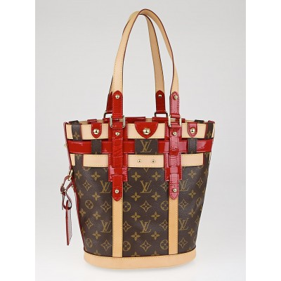 Louis Vuitton Limited Edition Monogram Rubis Neo Bucket Bag