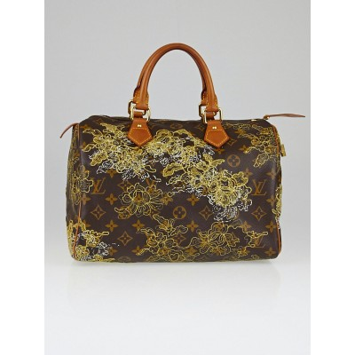 Louis Vuitton Limited Edition Monogram Canvas Dentelle Speedy 30 Bag